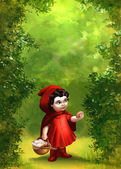 Red riding hood — Stock Photo