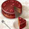 Chocolate clock cake — Stock Photo