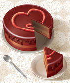 Heart symbol cake — Stock Photo