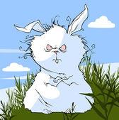 Evil cartoon bunny. — Stock Vector