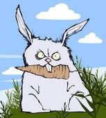 злой кролик — Cтоковый вектор