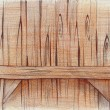 Pencil drawing of a wooden shelf — Stock Photo #42046249