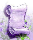 Свиток бумаги в цветы — Стоковое фото