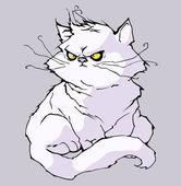 Slechte kat — Stockvector