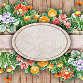 Background with floral decoration — Stock Photo