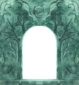 Fairy tale cartoon frame — Stock Photo