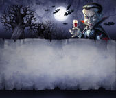 Halloween background with vampire — 图库照片