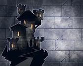 Castle of a vampire — Stock Photo