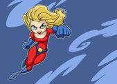 Super lady — Stock Vector