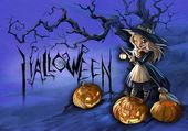 Halloween-karte — Stockfoto