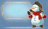Boneco de neve com sorvete — Fotografia Stock