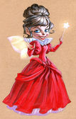 Fairy lady med magiska pinne — Stockfoto
