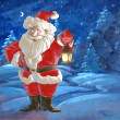 Christmas background with Santa Claus — Stock Photo #51654801