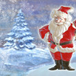 Christmas background with Santa Claus — Stock Photo #51654885