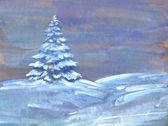 Jul bakgrund med gran — Stockfoto
