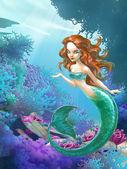 Beautiful mermaid — Stock Photo