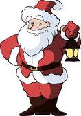 Santa Claus with lantern — Stok Vektör