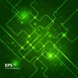 Abstract hi-tech dark green background. - Imagen vectorial