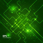 Abstract hi-tech dark green background. — Stock Vector #16634709