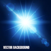 Realistic star burst with flare. — Stock Vector