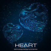Abstract technology heart. — Stock Vector