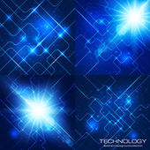 Set of technology backgrounds — Stock Vector