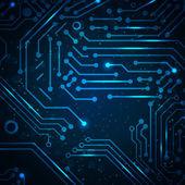 технология фон с элементами печатной платы. — Cтоковый вектор