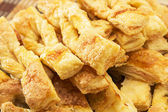 Strips of puff cookies — Stock Photo
