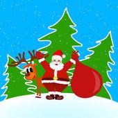 Santa Claus Merry Christmas — Stock Vector
