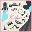 Set of fashion — Stock Vector
