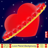 Love Planet — Stock Vector