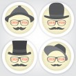 Royalty-Free Stock 矢量图片: Decorative men speech bubble.