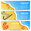 Stock Vector: Summer banners