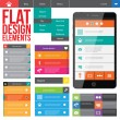 Flat Web Design — Vector de stock #24876937
