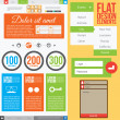 Flat Web Design — Stock Vector