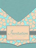 Cartão do convite — Vetor de Stock
