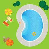 Swimming pool — Stock Vector