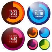 Creative watch — Stock Vector