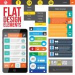 elementos de design web plana — Vetorial Stock