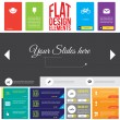 Stock Vector: Flat Web Design elements.