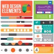 Flat Web Design elements. — Stock Vector #25181159
