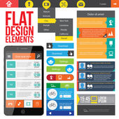 Flat Web Design elements. — Stock Vector