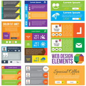 Flat Web Design elements — Stock Vector