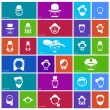 Stock Vector: Set of 27 face icons