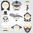 Set of Decorative men speech bubble — Imagens vectoriais em stock