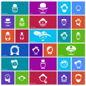 Set of 27 face icons — Stock Vector