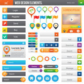 Web Design Elements — Stock Vector