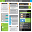 Web Design Elements — Imagen vectorial