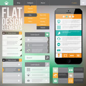 Flat web design — Stock Vector