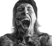 Screaming man — Stock Photo